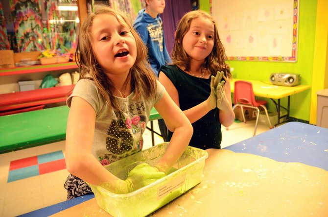 Mary and Samantha Willems say they love the art room at the Boys & Girls Club.