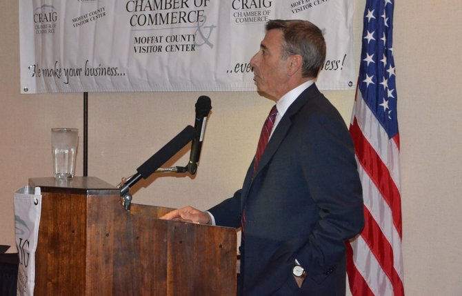 Steven Summers, president of the Colorado Hospital Association, was the keynote speaker at the State of the County.