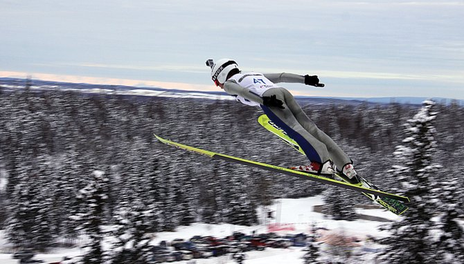 Steamboat Springs jumper Davis Petersen competed at the 2014 Junior National Ski Jumping and Nordic Combined Championships in Anchorage, Alaska.