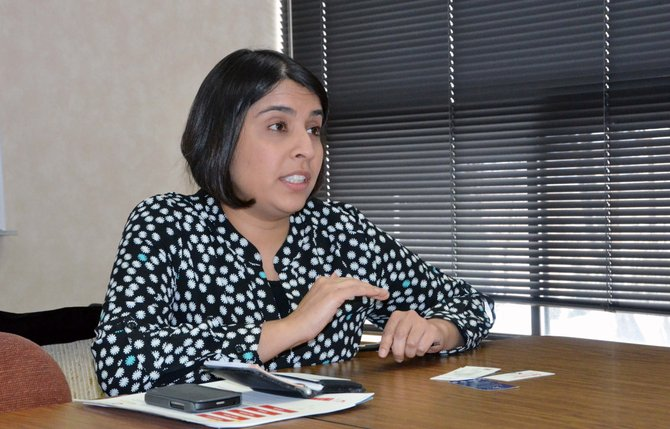 Monisha Merchant, senior advisor for business affairs for U.S. Sen. Michael Bennet's office, spoke with Craig residents about economic development Thursday.