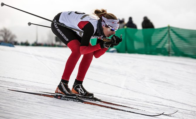 "Kathleen O'Connell took fifth place for the 5K mass start skate race at the Junior National Championships in Stowe, Vt. Coach Brian Tate called it a ""remarkable"" finish."