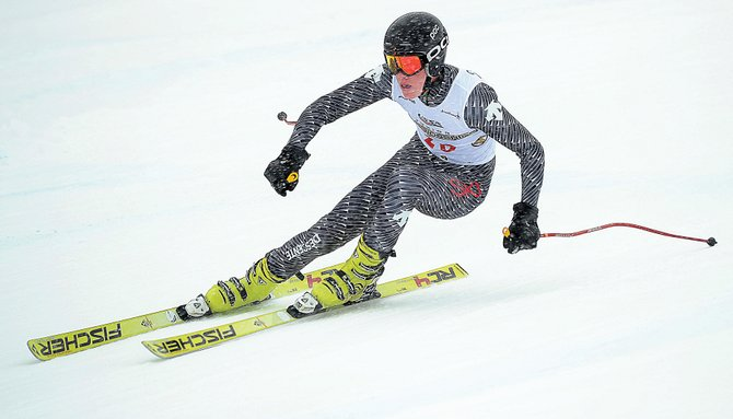 Steamboat Springs ski racer Andrew McCawley broke into the top 10 of Tuesday's Rocky Mountain/Central U16 Regional Championships with an eighth-place finish in the downhill. Racing in the junior championships will continue Wednesday as the racers move to the super-G.