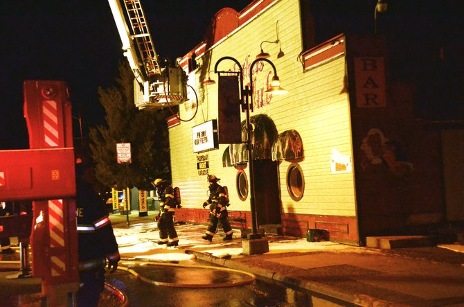 Mathers' Bar caught fire Thursday night, but the damage was minimal.