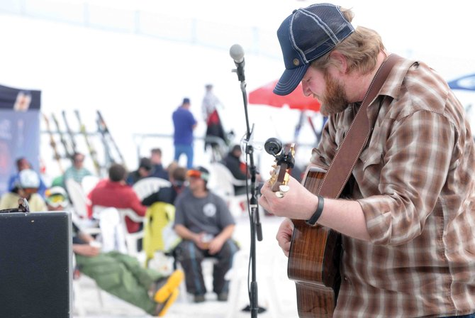 A sure sign of spring is live entertainment on the snow in front of the Slopeside Grill at the base of Steamboat Ski Area. Andy Straus took the stage Thursday, and there will be plenty of other shows at the base of Steamboat Ski Area in the coming weeks.