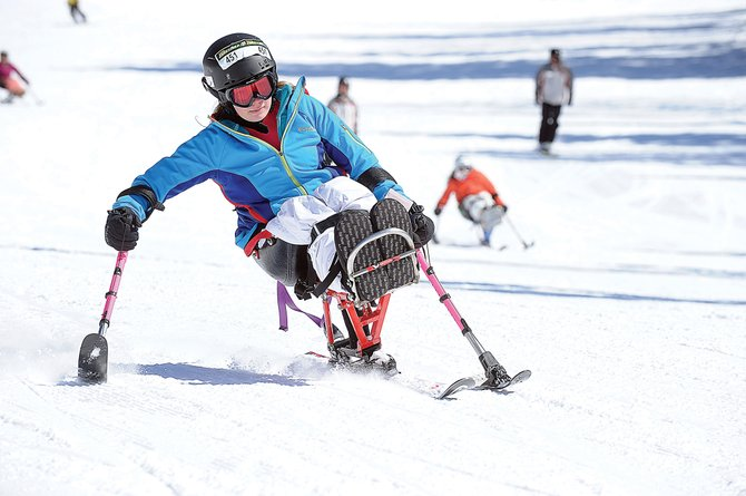 Sit skier Abby Farrell makes her way down the slopes of Steamboat Ski Area on Monday as part of the Steamboat STARS of Tomorrow Kids Camp. This weekend's STARS Mountain Challenge is a fundraiser to help support Steamboat Adaptive Recreational Sports programs in Steamboat Springs.