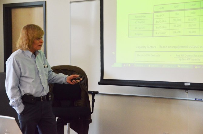 Jim Davis, carbon monoxide combustion trainer with the National Comfort Institute, taught a carbon monoxide prevention training at the Colorado Northwest Community College from Tuesday through Thursday.