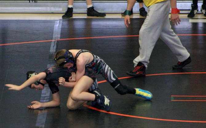 Chris Moschetti competes at the Rocky Mountain Nationals Middle School Region 6 Tournament last weekend in Grand Junction. Moschetti was part of a dominant Craig Middle School wrestling team this season that won three tournaments on the Western Slope.