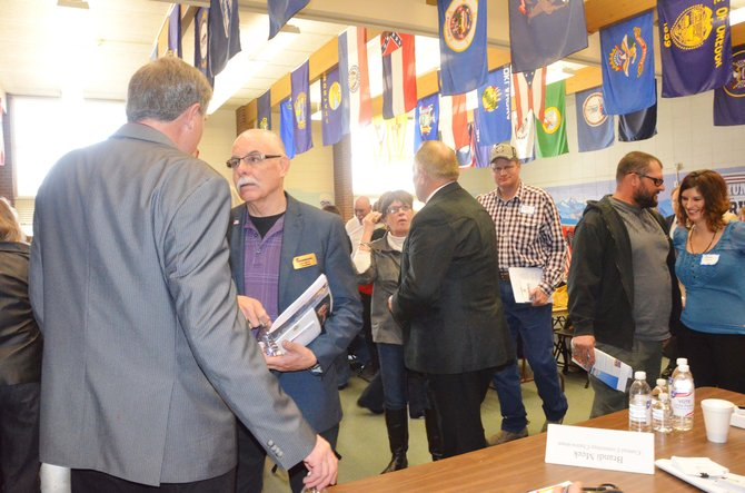 County delegates gathered at Sandrock Elementary School on Saturday to decide which local candidates they wanted to make it on to the June primary ballot.