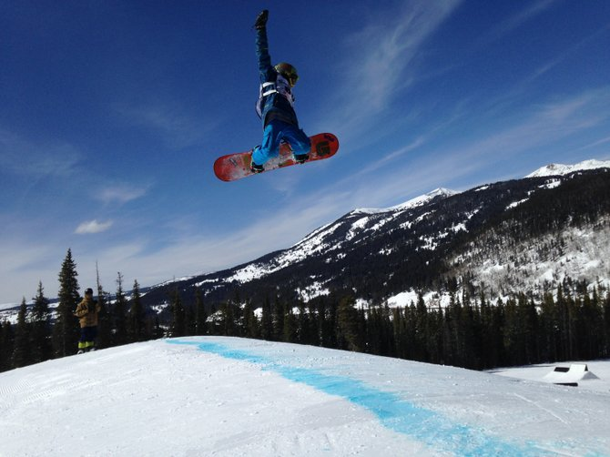 Jacy Werner flies high over Copper Mountain while competing in the slope-style competition at the USASA National Championships last week. Steamboat riders came up big at the event, winning seven times and collecting a total of 26 podium positions.