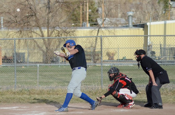 Colton Yoast hit two doubles in Moffat County's second game against Grand Valley on Thursday in Craig. The senior got Moffat County's offense going after a 17-3 loss and helped the Bulldogs pick up a 17-2 win for a 1-1 split.