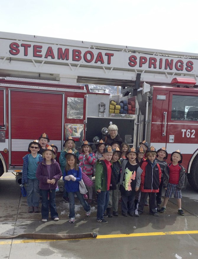 Strawberry Park Elementary School first graders on Tuesday learned about the dangers of high water from firefighters with Steamboat Springs Fire Rescue.