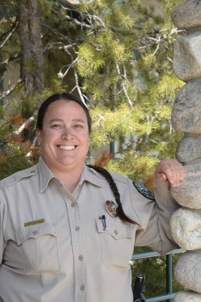 Libbie Miller is the district wildlife manager in the Yampa District, has been named Colorado Parks and Wildlife's Officer of the Year.