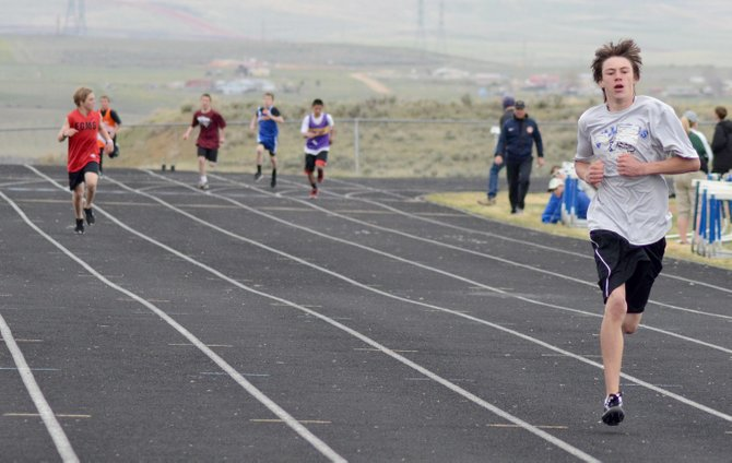 Dylan Chalmers was all alone down the final stretch in the 400-meter run Saturday at Craig Middle School's home meet. Chalmers won the event in the seventh-grade boys division by six seconds.