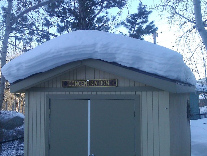 Tim VanWyngarden was away from home when someone climbed a fence to boost this vintage Steamboat Ski Area trail sign off his storage shed. That's bad ski karma.