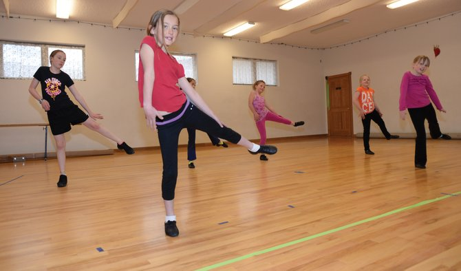 Dancer Olivia Rossi rehearses for this year's Let's Dance Spring Dance Program.
