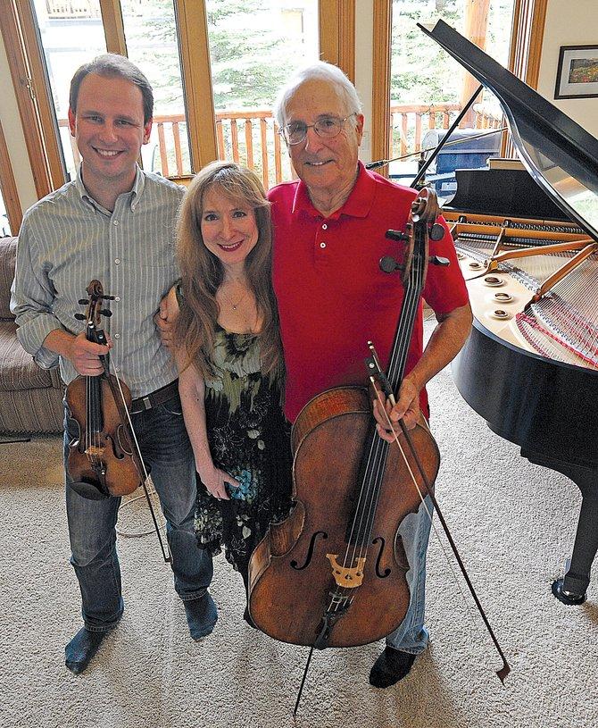 Musicians Dmitri Pogorelov, Judith Lynn  Stillman and John Sant'Ambrogio will perform Boldly Beethoven this Friday and Saturday at the Chief Theater.