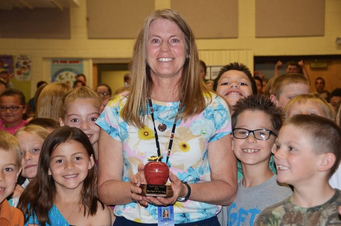 Sunset Elementary's physical education teacher Susan Nicholson was named Teacher of the Year by the Craig Daily Press Thursday morning.