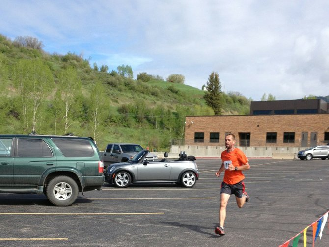 Brian Reidhead finishes first in the 10K Spirit Challenge event Saturday in Steamboat.