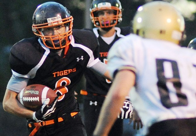 Dan Engle rumbles up the field in September against Rocky Mountain Lutheran.