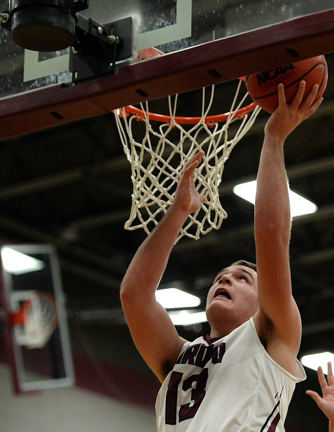 Ryan Jeep puts up a shot in January against Vail Christian.