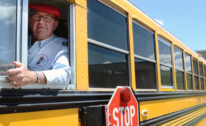 Steamboat Springs School District bus driver Clair Erickson is retiring from his position after 19 years of transporting youngsters in town.
