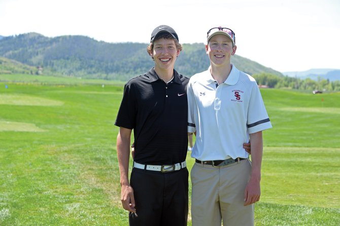 Steamboat Springs golfers Casey Weston, right, and Erik Sobeck were named the recipients of the Steamboat Springs Junior Golf Association's annual scholarship. The golfers each earned a $1,000 scholarship from the organization.