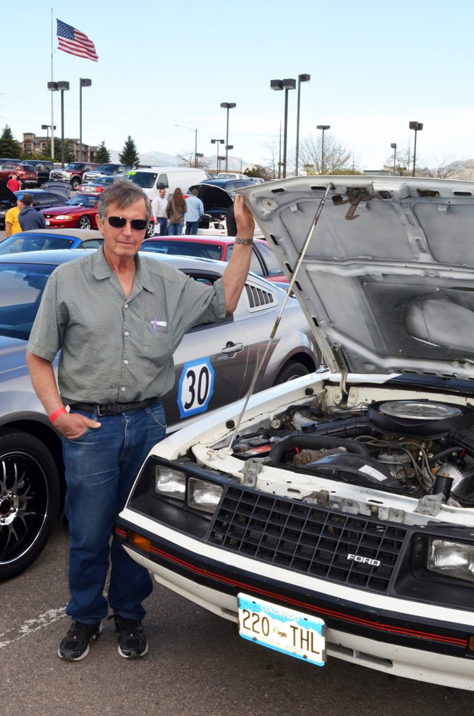 Bill Distel's 1982 Mustang is one of five of the pony cars that he owns, although he says it is his 1955 Thunderbird that makes him a Ford lover.