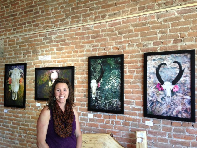 Paula Jo Jaconetta created a Georgia O'Keeffe inspired show for this month's First Friday Artwalk from 5 to 8 p.m.