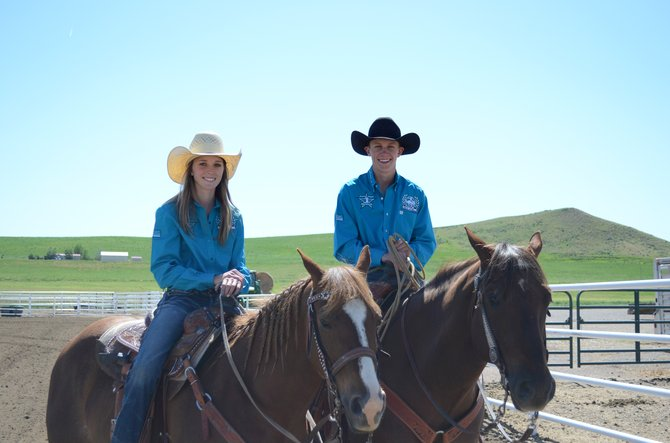 Kinlie Brennise, left and brother Kasen recently combined for five state championships at the Colorado Junior High State Rodeo Championships. It was a continuation of the Craig siblings' dominance in youth rodeo, where they've been among the best in the state for more than five years.