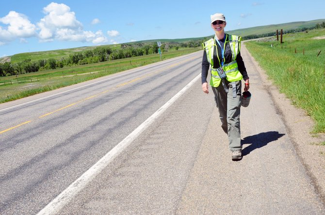 Anna Harrington is walking across the U.S. — 20 miles each day — to raise awareness for Shriners Hospitals for Children.