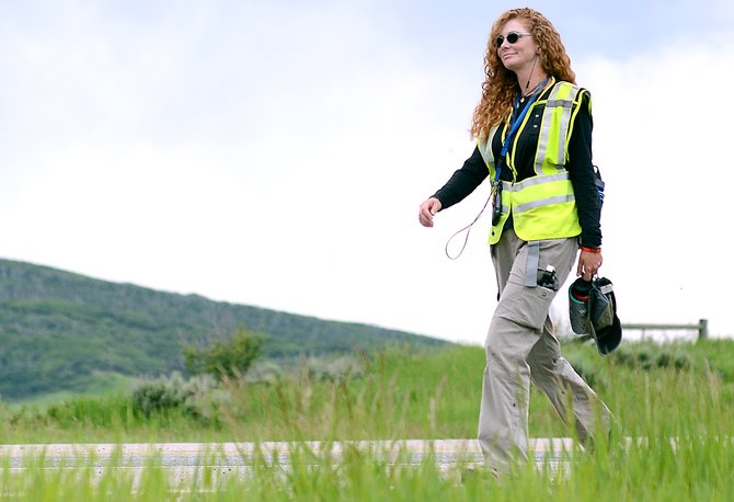 Anna Harrington is walking across the U.S. — 20 miles a day — to raise awareness for Shriners Hospital.