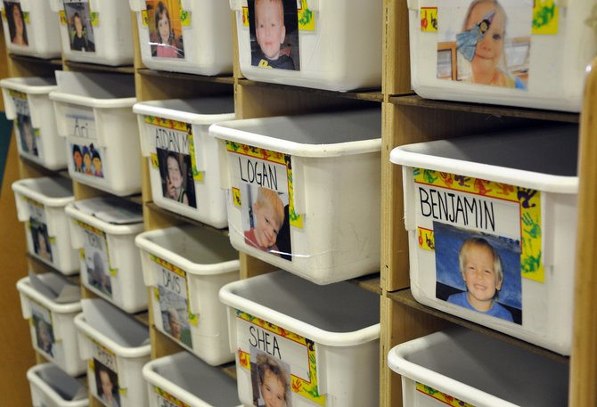 Children's tubs line the walls of the Discovery Learning Center in Steamboat Springs. Officials said the higher quality of programming here in Routt County contributes to its high cost.