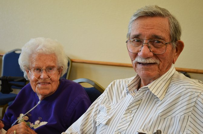 The Haven residents Bob and Ann McKune enjoy a lively Friday night at the assisted living facility, where a fundraiser was held to help with maintenance costs. The couple has been married for 71 years.