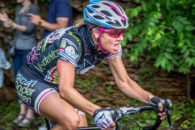 Amy Charity rides June 15 in the Stillwater Criterium and the Northstar Grand Prix in Minnesota. Charity started riding with a pro team last summer, then got another bump in her cycling career by being recently selected to ride in pair of European races with USA Cycling.