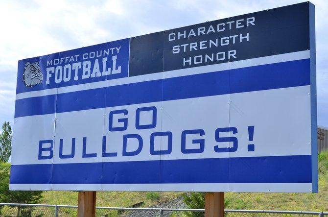 The sign stands tall at the Moffat County High School Bulldog Proving Grounds.