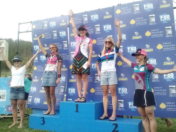 Kelly Boniface finished second in Friday's Firecracker 50 mountain bike race in Breckenridge, leading the way for a strong day for local Steamboat Springs riders.