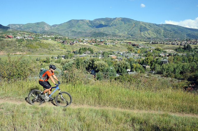 Matt Gerzina rides on Emerald Mountain in 2013.