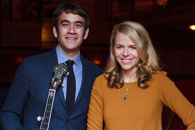 Aoife O'Donovan and Noam Pikelny, the dynamic Bluegrass duo who have each had a successful career individually and now join together for their November 2014 tour. They will be in Steamboat Springs on Tuesday, November 4 to headline the bluegrass concert at the Strings Music Pavilion.