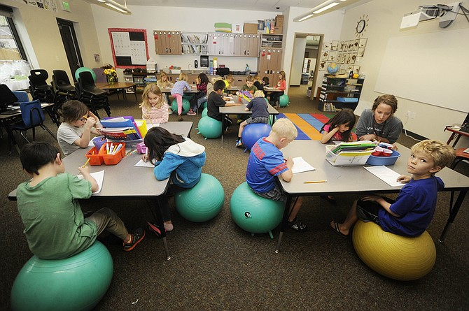 Innovative Classroom Grants ~ Grant funds classroom stability balls at strawberry park