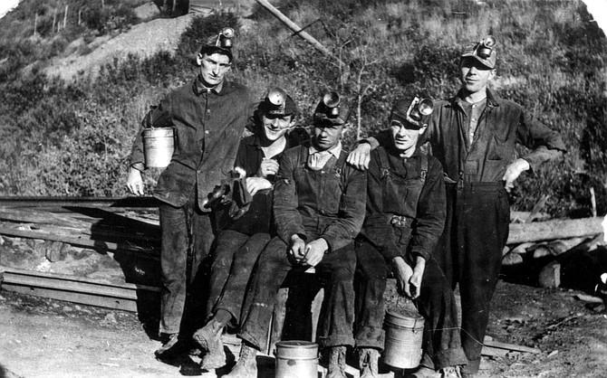 This photo depicts Haybro miners, circa 1934.