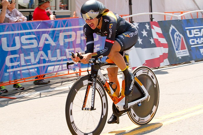 Steamboat Springs cyclist Amy Charity rides Friday in Stage 1 of the USA Pro Challenge. Charity said the Stage 1 time trial was brutally difficult but among her career highlights.