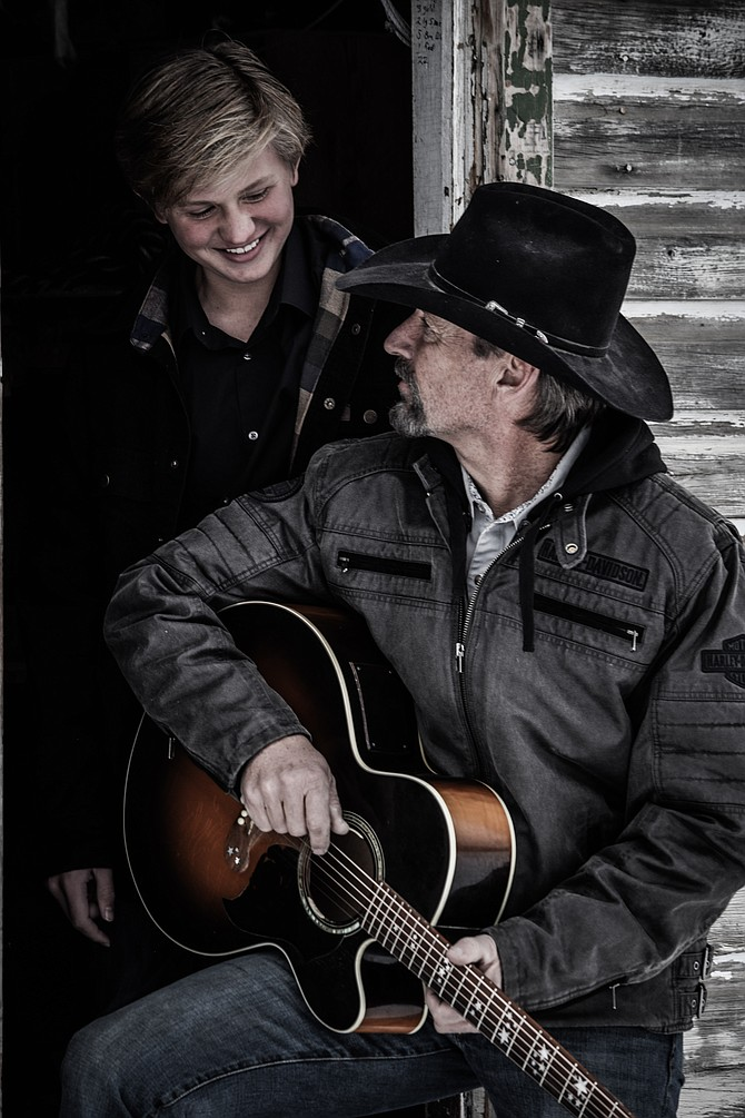 Jesse Christensen and his son Colter could regularly be found on Thursday nights performing at Aurum Food and Wine.