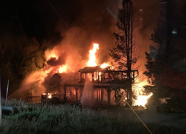 Sunday morning fire destroys fish creek falls road home for World fishing network directv