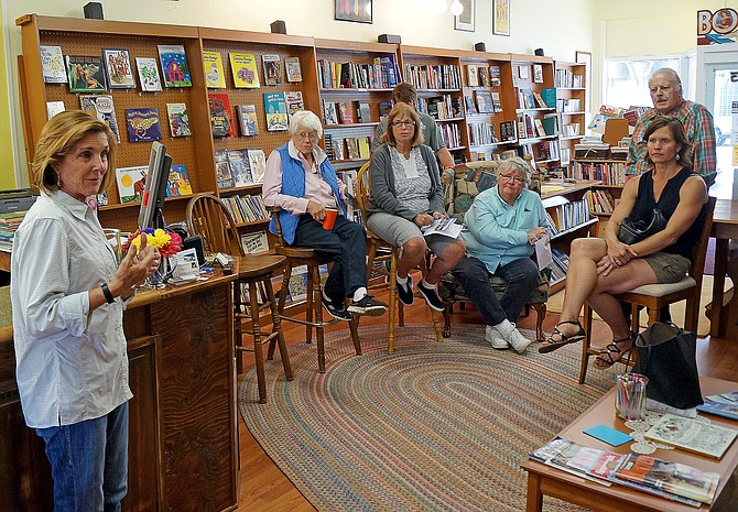 Former Colorado legislator and Democratic candidate for the U.S. House Gail Schwartz discusses her campaign at Downtown Books in Craig on Tuesday. Schwartz is running against Republican Scott Tipton for the 3rd Congressional District seat in the U.S. House of representatives.