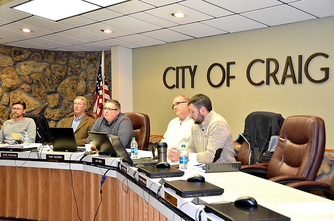 Craig City Council listens to constituents talk about recreational marijuana concerns Tuesday night.