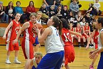 Craig Middle School Girls Basketball vs. Rifle, Steamboat Springs, Rawlins, Wyoming