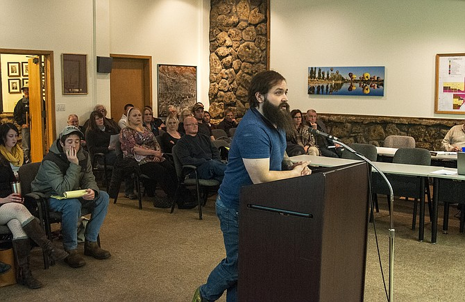 Shaun Hadley, owner of Craig Apothecary, shared his arguments Tuesday night in favor of supporting an ordinance that would've put a set of retail marijuana questions before voters in April's election. The ordinances failed to garner enough votes however and failed with a 3-3 tie vote by Craig City Council.