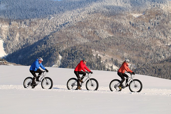 Fat tire bikes are mountain bikes with over-sized tires and treads that allow cyclists to pursue their passion on packed, snowy surfaces.
