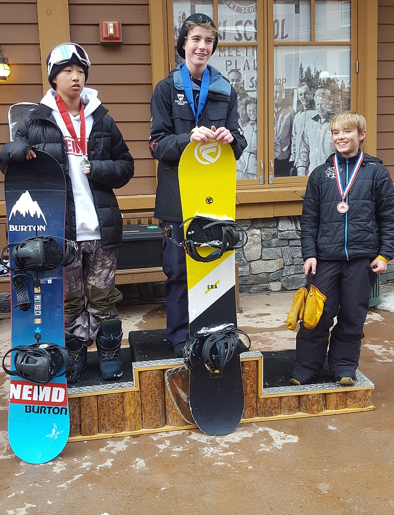 Johnny Duty, right, was third in his division last weekend in a USASA event at Winter Park.
