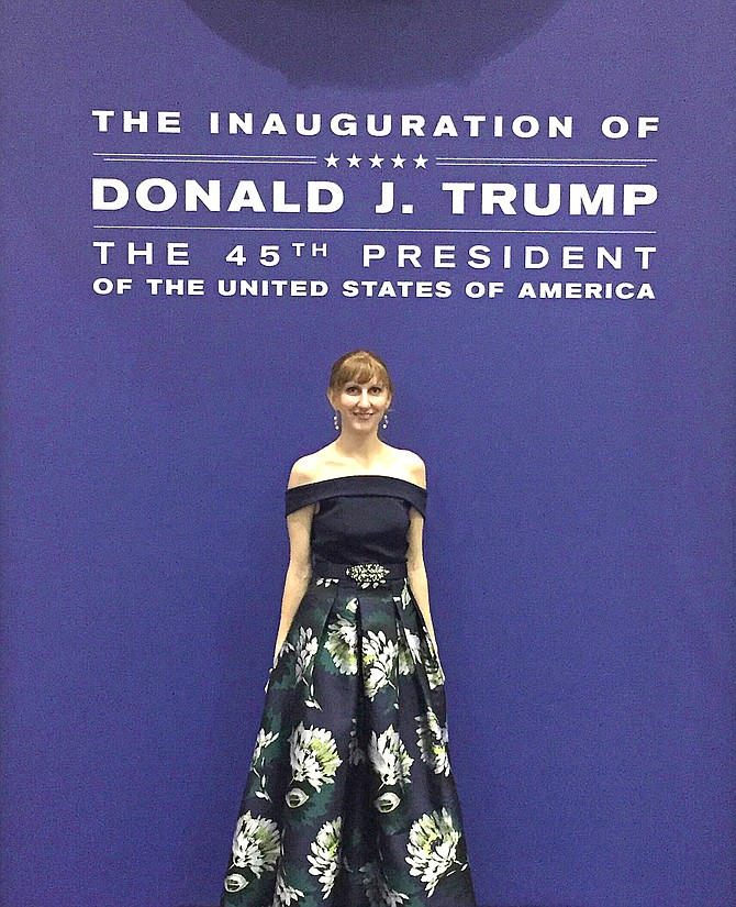 Brandi Meek, of Craig, attended the inauguration of President Donald Trump in Washington, D.C. and attended one of the inauguration balls.